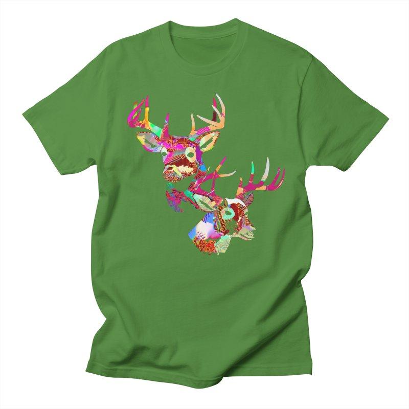 Yes Deer Men's Regular T-Shirt by PIXLPA Artist Shop