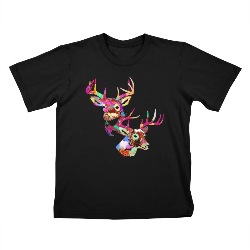 Yes Deer Kids T-Shirt by PIXLPA Artist Shop