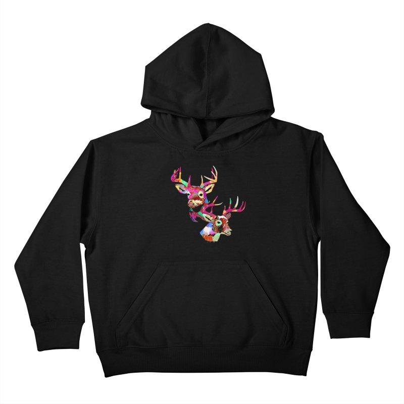 Yes Deer Kids Pullover Hoody by PIXLPA Artist Shop