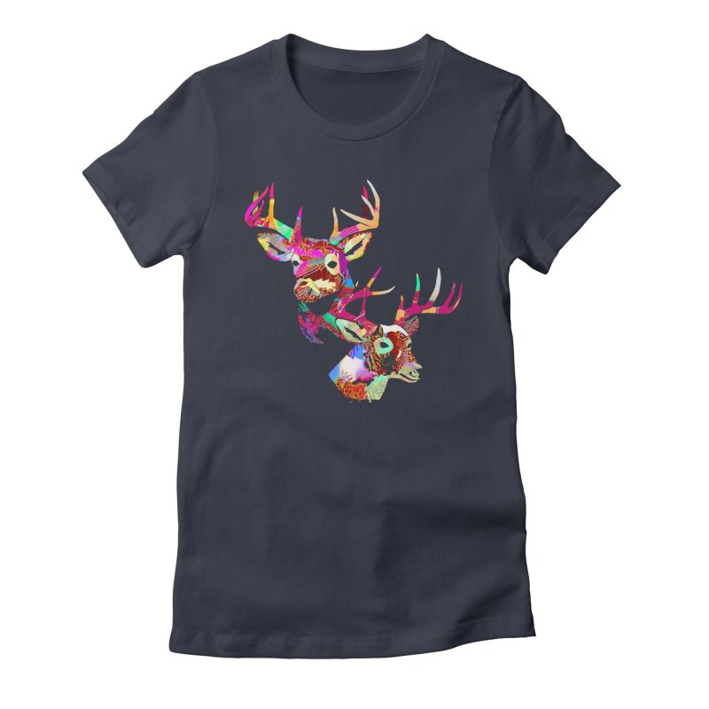 Yes Deer Women's Fitted T-Shirt by PIXLPA Artist Shop
