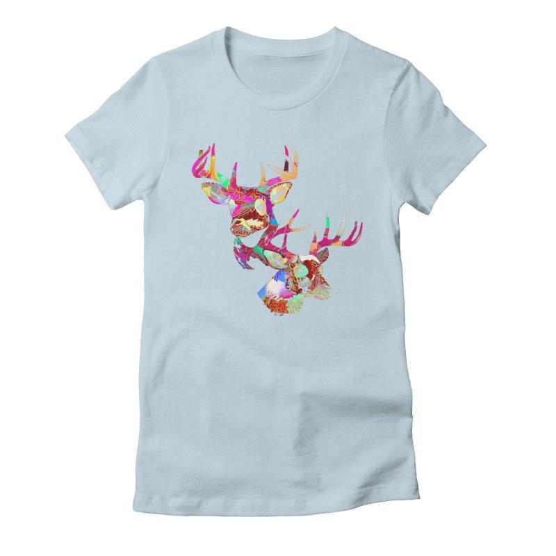 Yes Deer Women's Fitted T-Shirt by PIXLPA Artist Shop