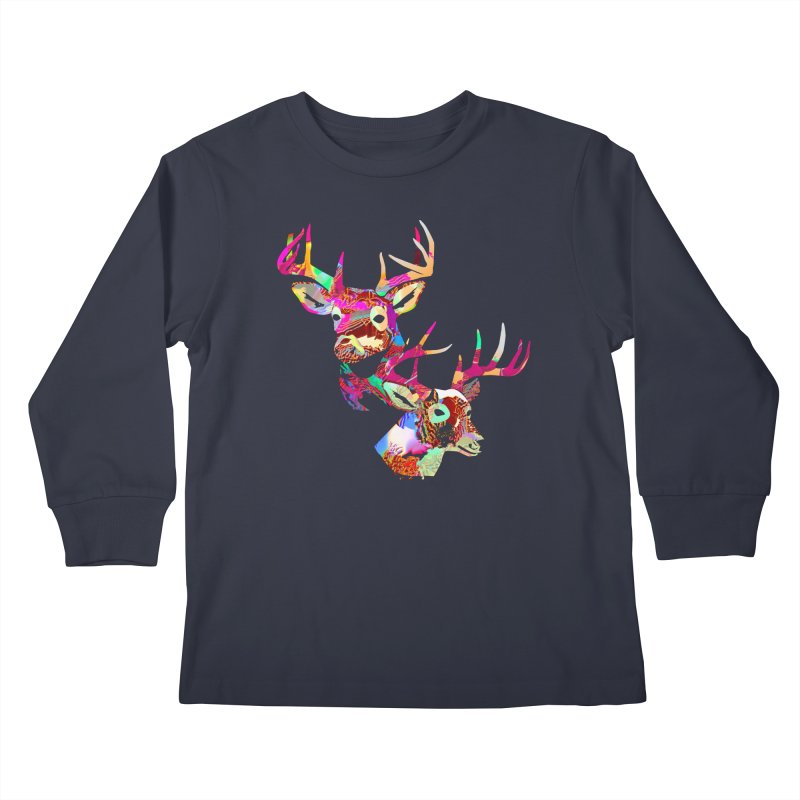 Yes Deer Kids Longsleeve T-Shirt by PIXLPA Artist Shop