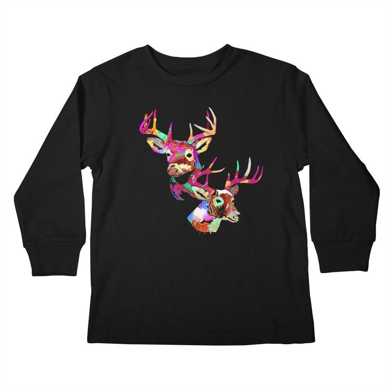 Yes Deer Kids Longsleeve T-Shirt by PIXLPA Artist Shop