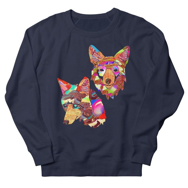 Yes Coyote in Men's Sweatshirt Navy by PIXLPA Artist Shop