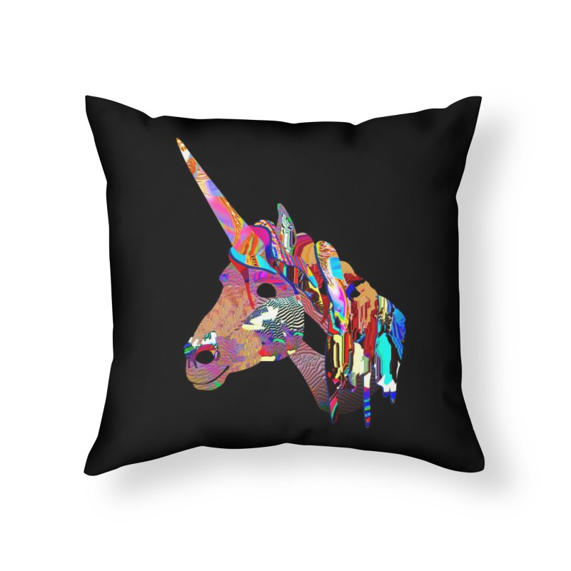 Yes Unicorn in Throw Pillow by PIXLPA Artist Shop
