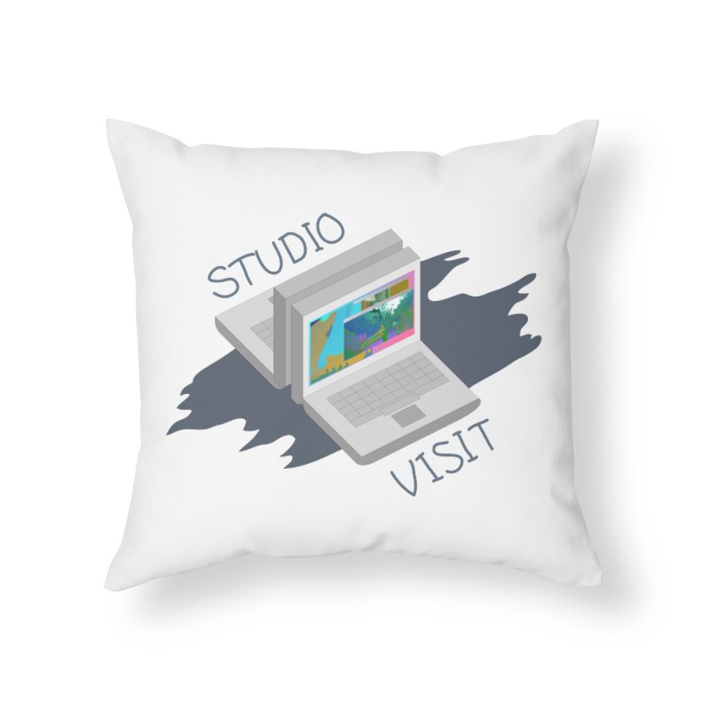 Studio Visit Home Throw Pillow by PIXLPA Artist Shop