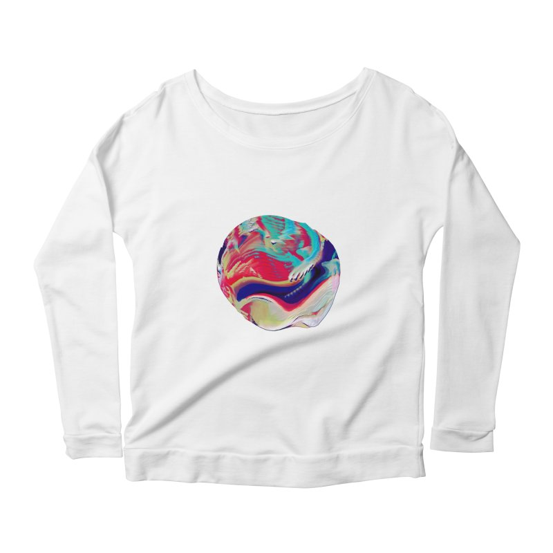SPHERE 2 Women's Scoop Neck Longsleeve T-Shirt by PIXLPA Artist Shop