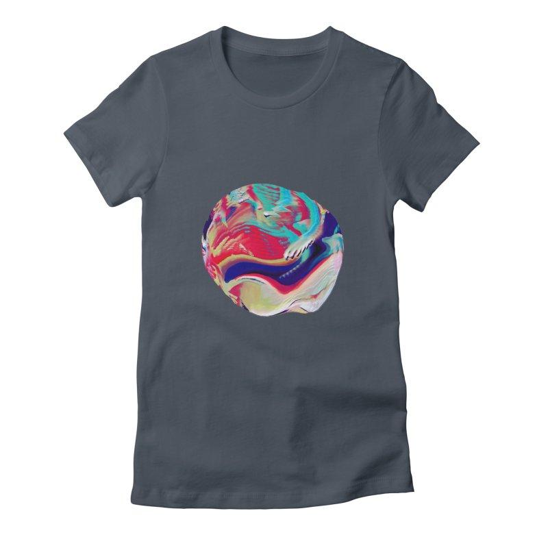 SPHERE 2 Women's Fitted T-Shirt by PIXLPA Artist Shop