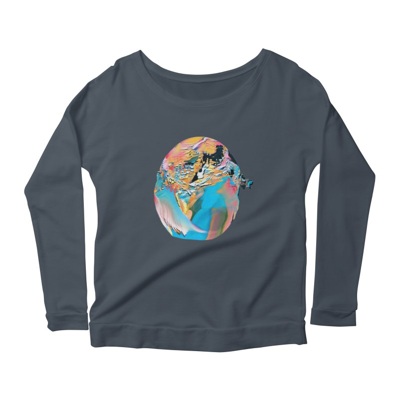 SPHERE 3 Women's Scoop Neck Longsleeve T-Shirt by PIXLPA Artist Shop