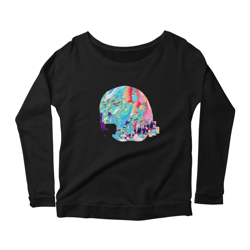 SPHERE 4 Women's Scoop Neck Longsleeve T-Shirt by PIXLPA Artist Shop