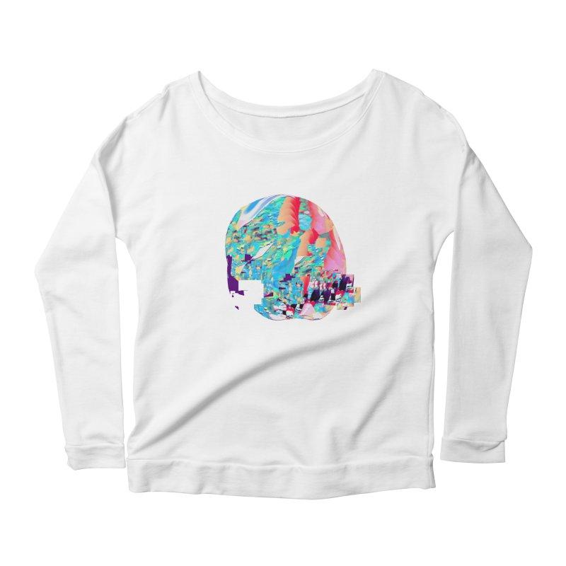 SPHERE 4 Women's Scoop Neck Longsleeve T-Shirt by PIXLPA Artist Shop