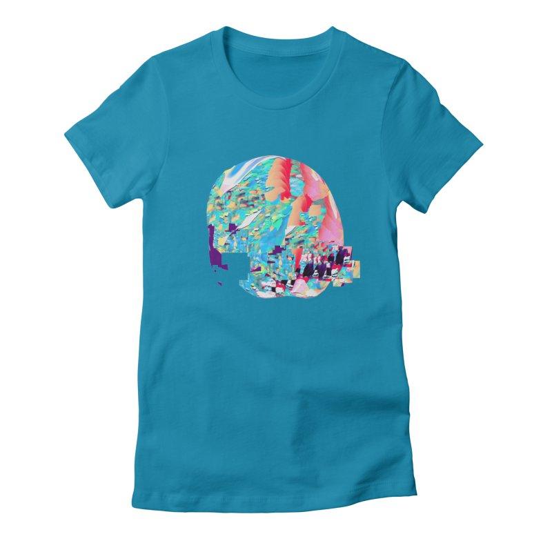 SPHERE 4 Women's Fitted T-Shirt by PIXLPA Artist Shop