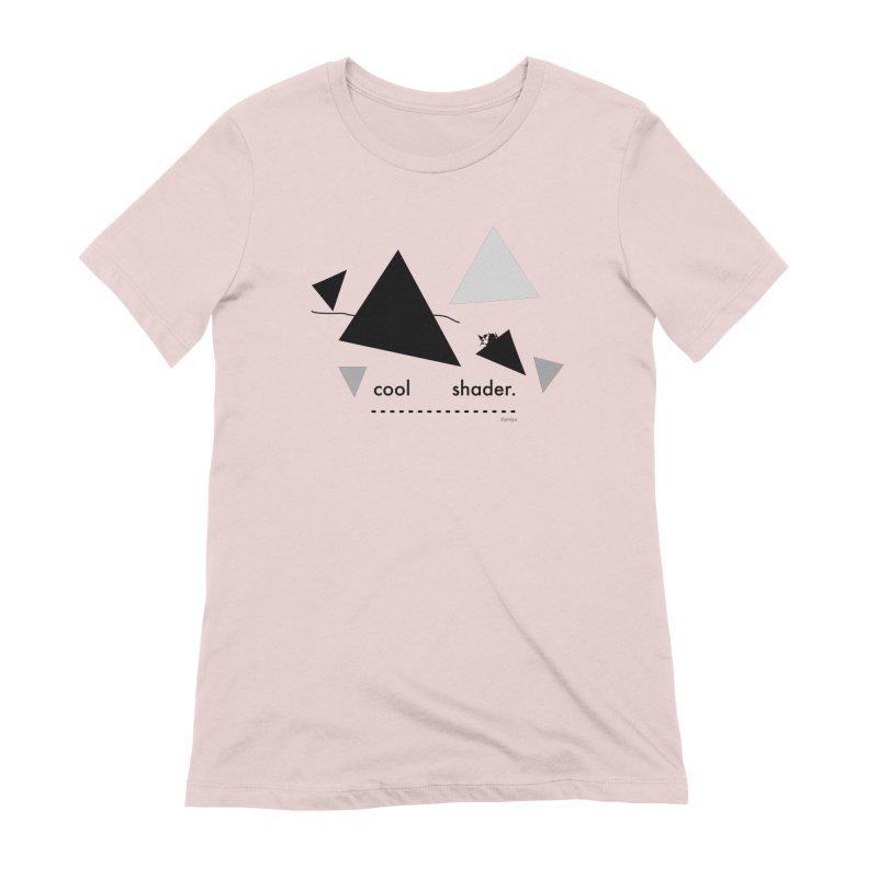 cool   shader. Women's Extra Soft T-Shirt by PIXLPA Artist Shop