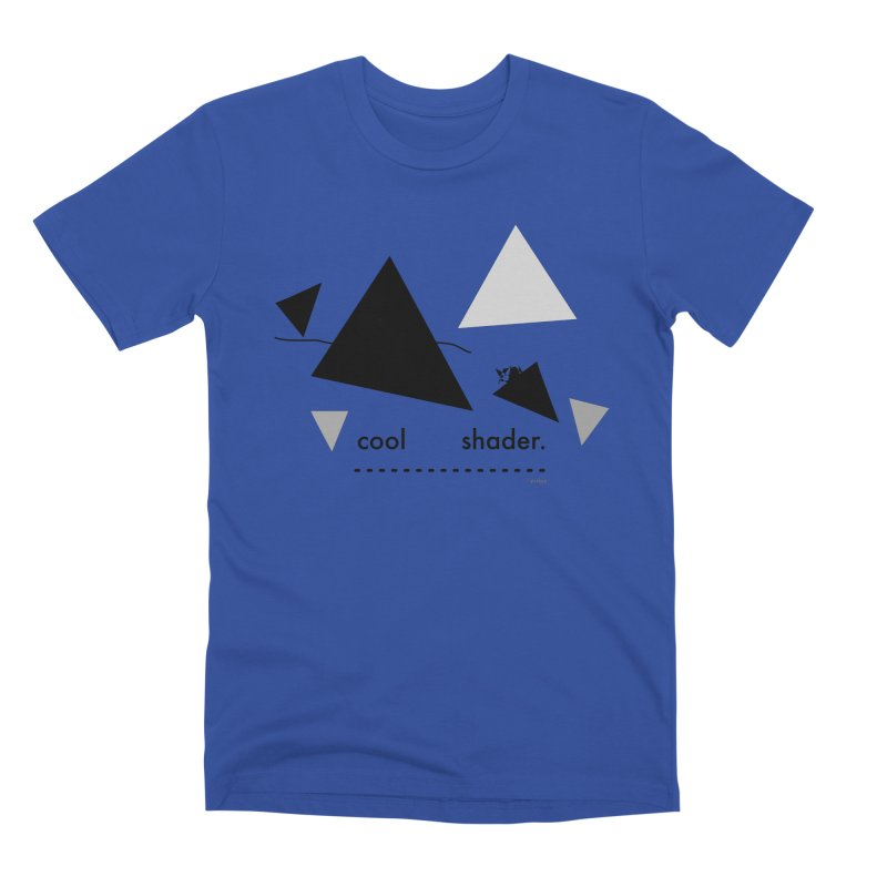 cool   shader. Men's Premium T-Shirt by PIXLPA Artist Shop