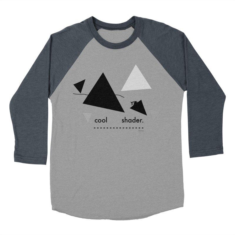 cool   shader. Women's Baseball Triblend Longsleeve T-Shirt by PIXLPA Artist Shop
