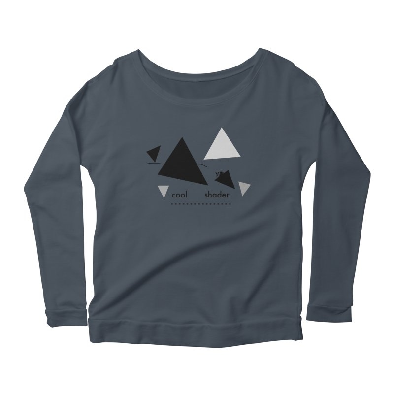 cool   shader. Women's Scoop Neck Longsleeve T-Shirt by PIXLPA Artist Shop