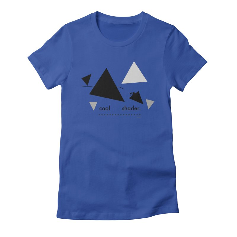 cool   shader. Women's Fitted T-Shirt by PIXLPA Artist Shop
