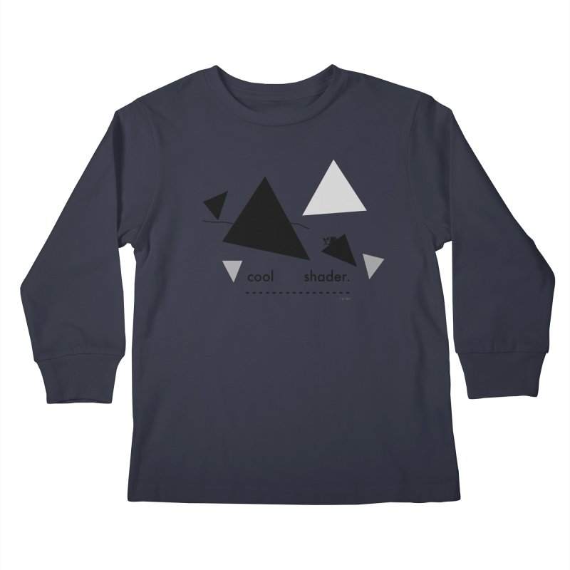 cool   shader. Kids Longsleeve T-Shirt by PIXLPA Artist Shop