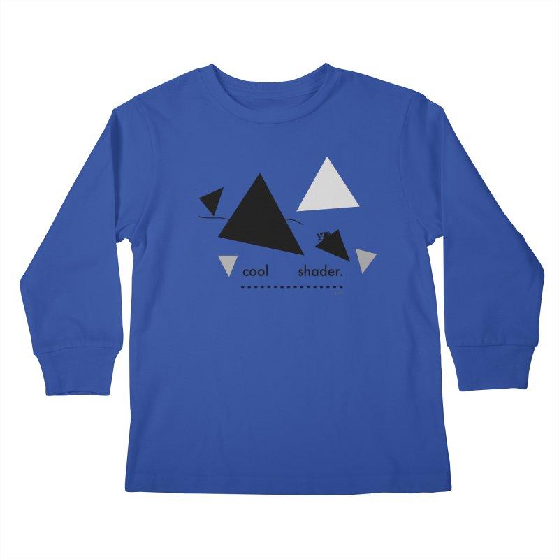 cool   shader. Kids Longsleeve T-Shirt by PIXLPA Artist Shop