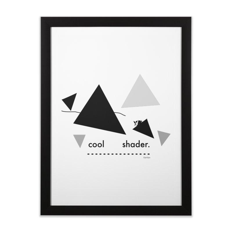 cool   shader. Home Framed Fine Art Print by PIXLPA Artist Shop