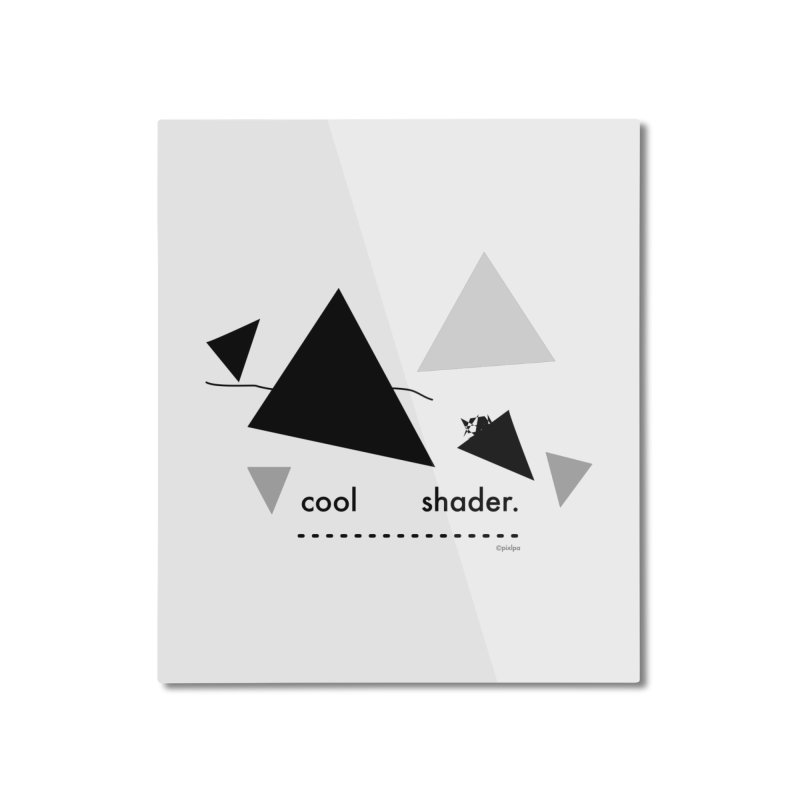 cool   shader. Home Mounted Aluminum Print by PIXLPA Artist Shop