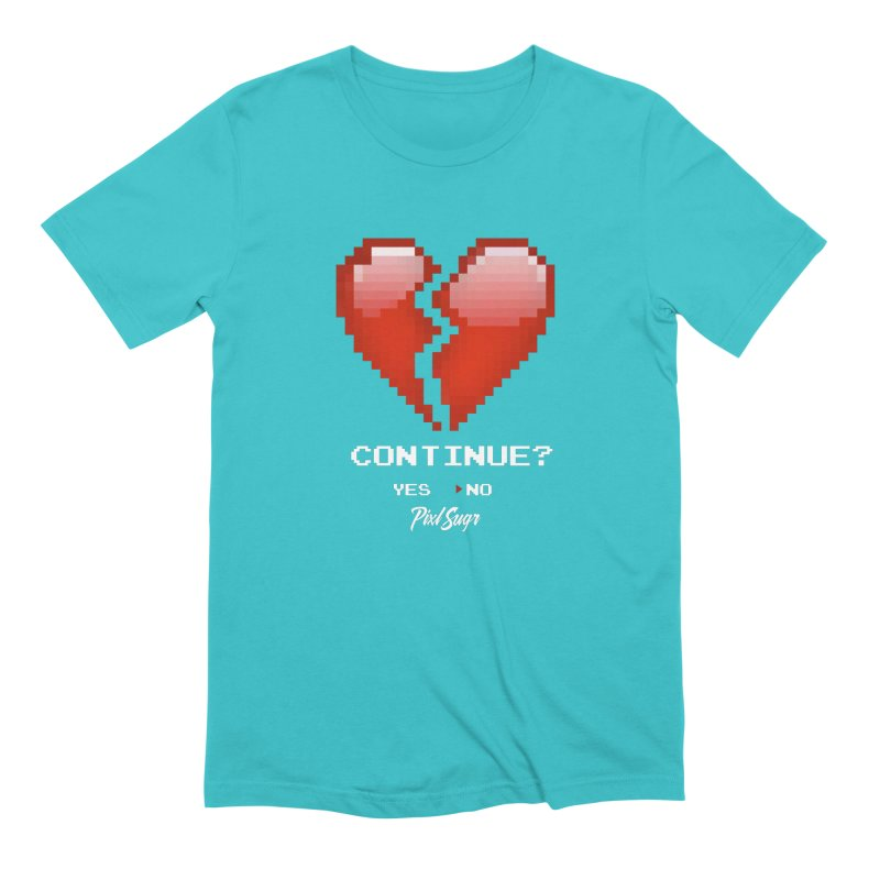 Continue? Men's Extra Soft T-Shirt by Pixlsugr!