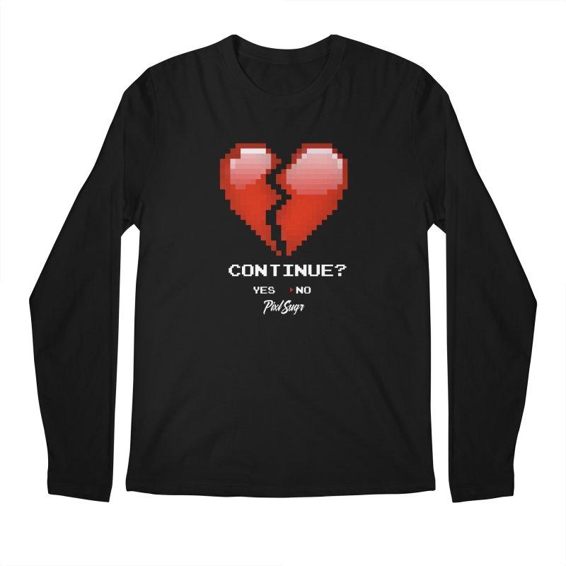 Continue? Men's Regular Longsleeve T-Shirt by Pixlsugr!
