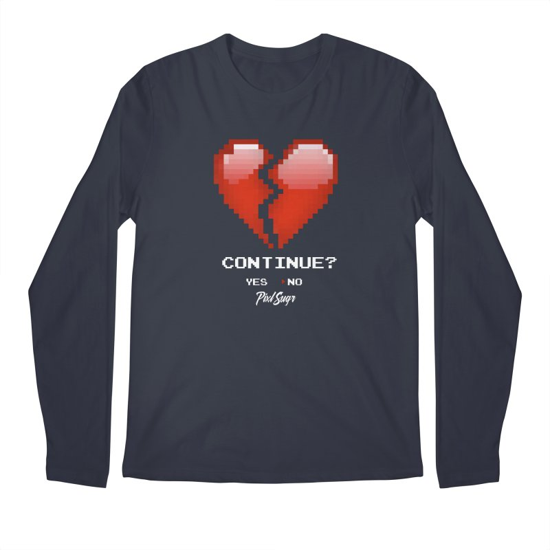Continue? Men's Regular Longsleeve T-Shirt by Pixlsugr!