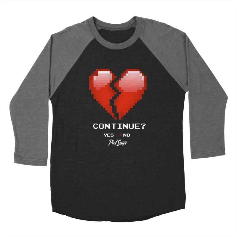 Continue? Men's Baseball Triblend Longsleeve T-Shirt by Pixlsugr!
