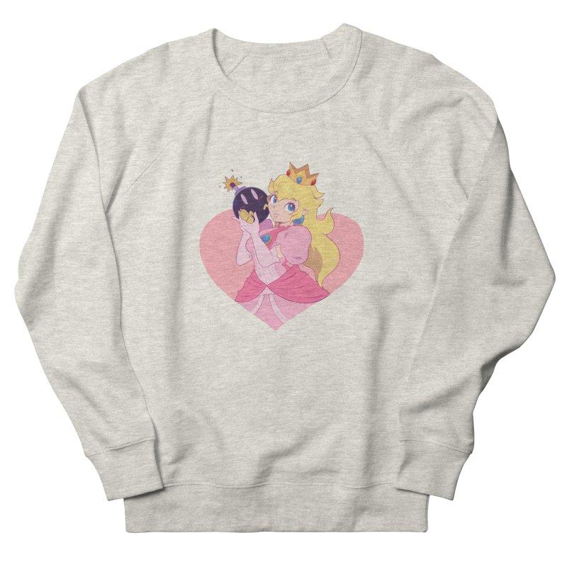 Peach Bomber Men's French Terry Sweatshirt by Pixlsugr!