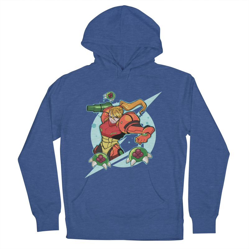 """Samus - """"I am NO MAN!"""" Women's French Terry Pullover Hoody by Pixlsugr!"""