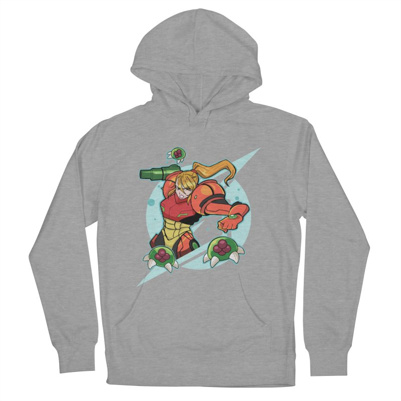"Samus - ""I am NO MAN!"" Women's French Terry Pullover Hoody by Pixlsugr!"