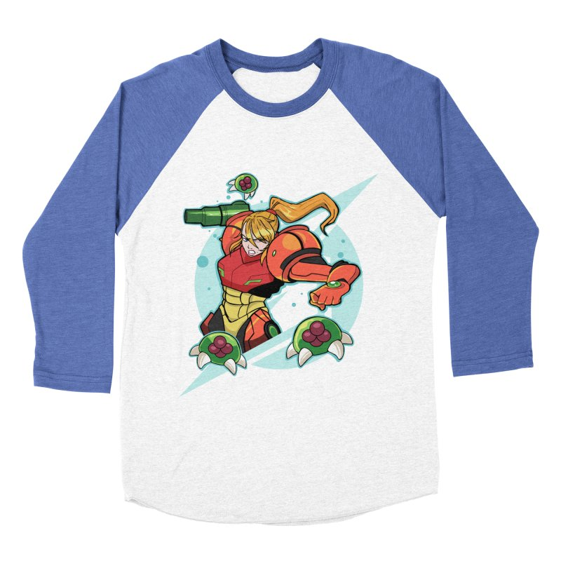 "Samus - ""I am NO MAN!"" Women's Baseball Triblend Longsleeve T-Shirt by Pixlsugr!"