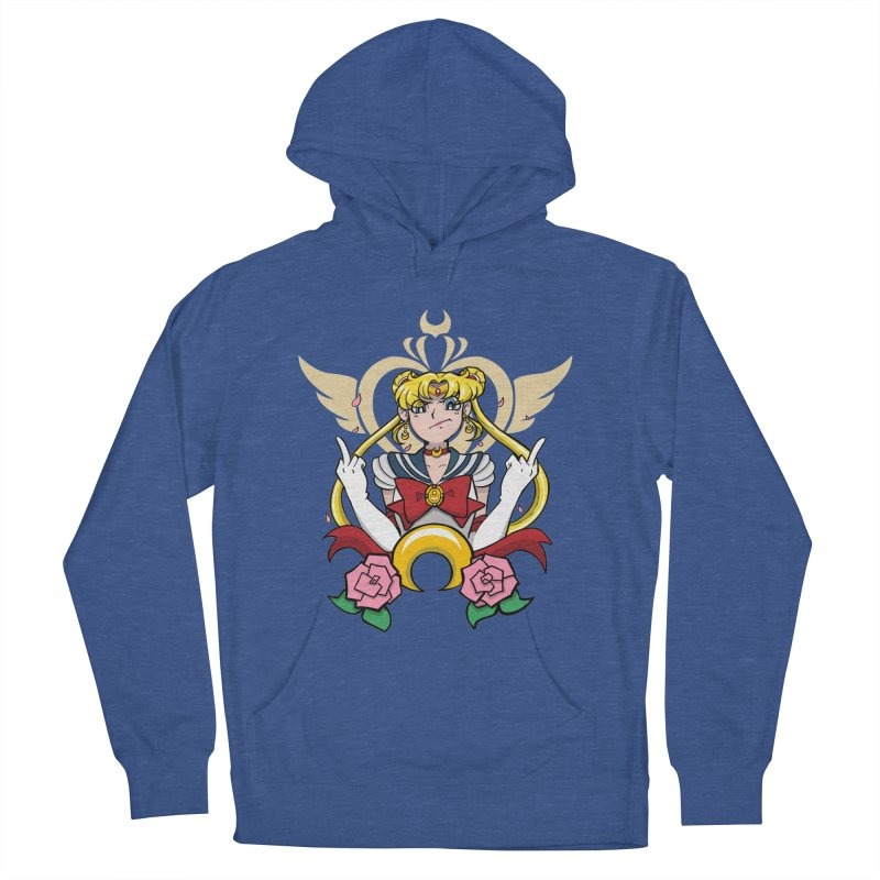 Moon Power Men's French Terry Pullover Hoody by Pixlsugr!