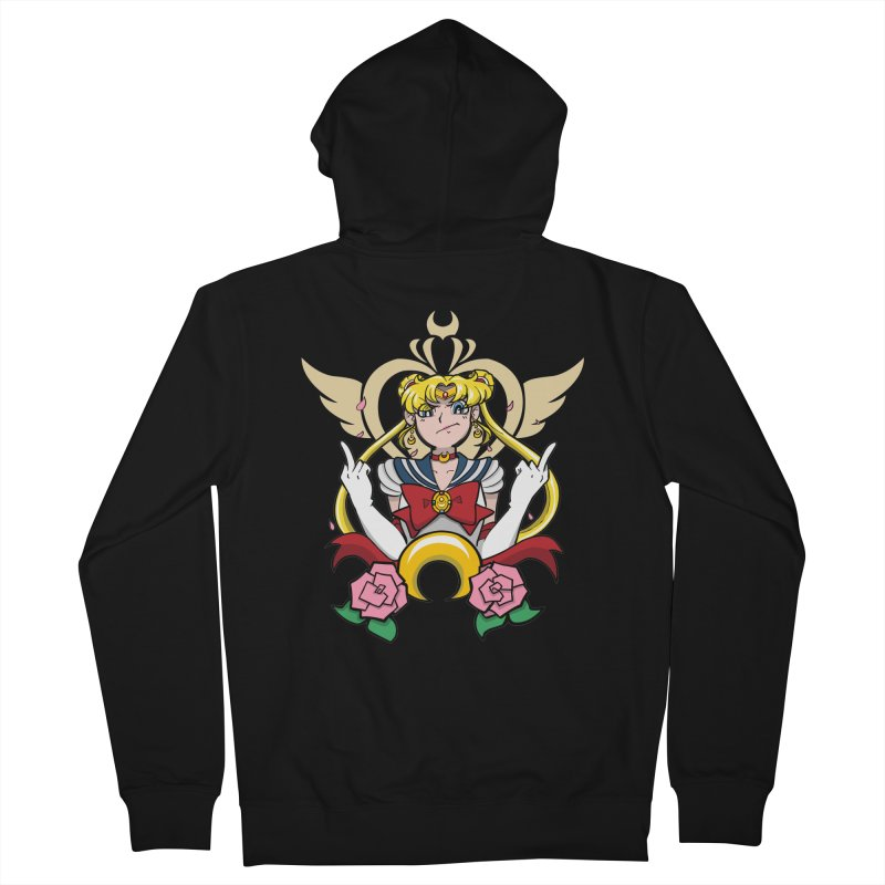Moon Power Men's French Terry Zip-Up Hoody by Pixlsugr!