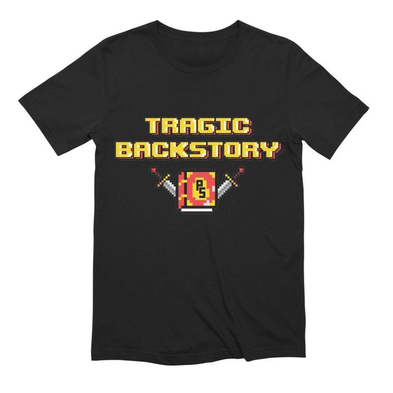 Tragic Backstory Men's Extra Soft T-Shirt by Pixlsugr!