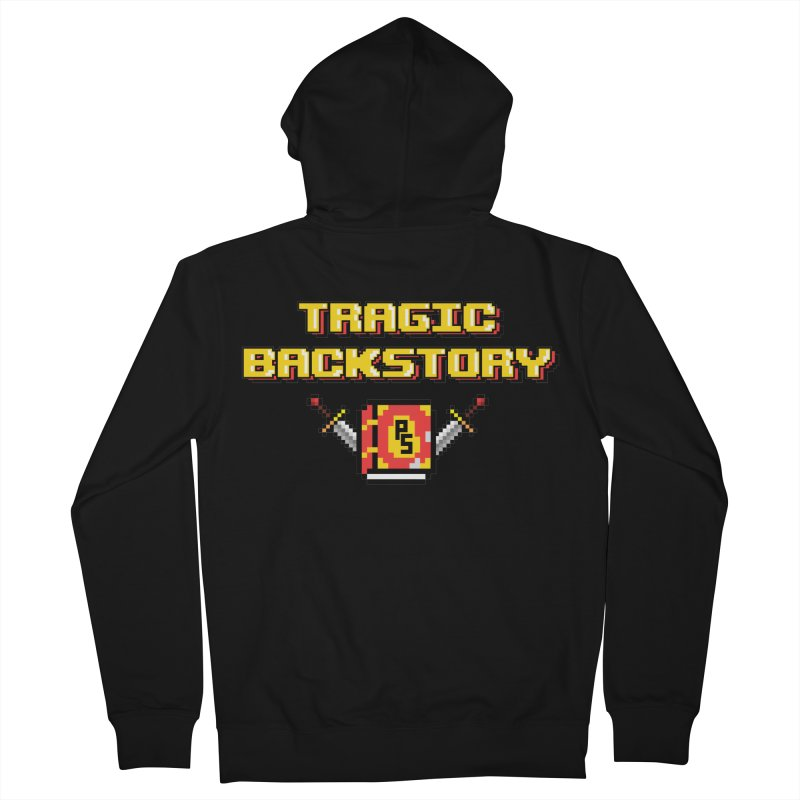 Tragic Backstory Men's French Terry Zip-Up Hoody by Pixlsugr!