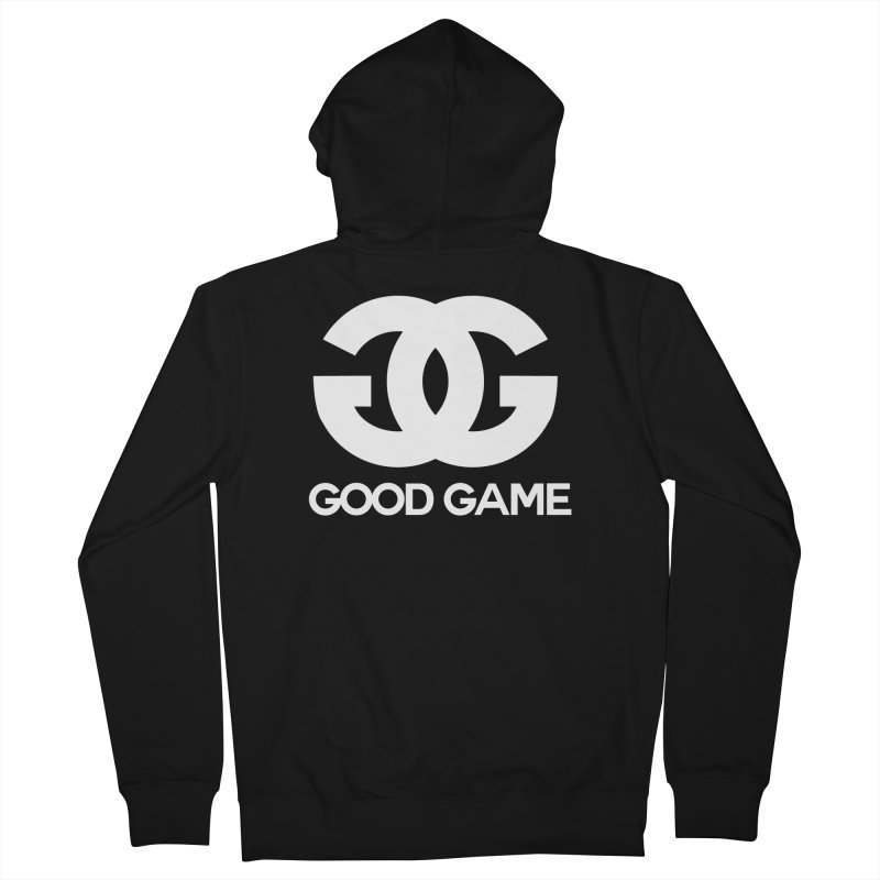 """""""GG"""" Good Game Men's French Terry Zip-Up Hoody by Pixlsugr!"""
