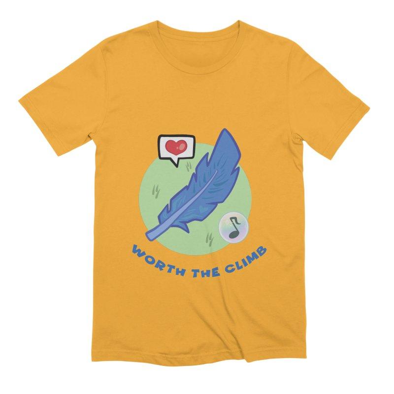 Worth the Climb Men's Extra Soft T-Shirt by Pixlsugr!