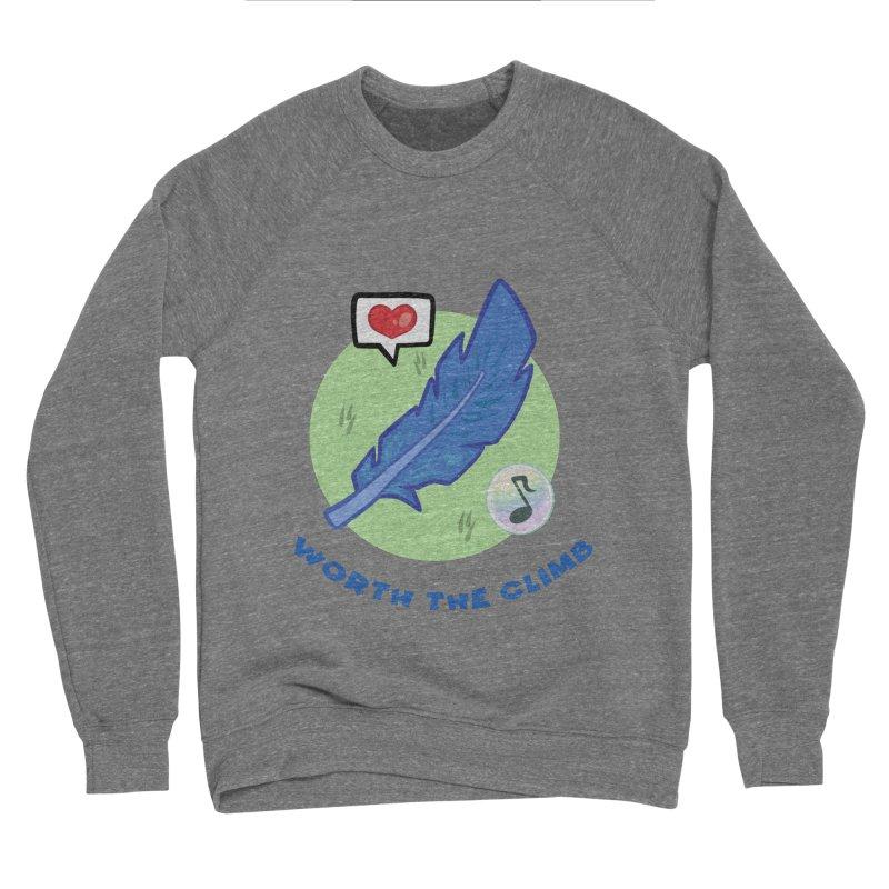 Worth the Climb Women's Sponge Fleece Sweatshirt by Pixlsugr!