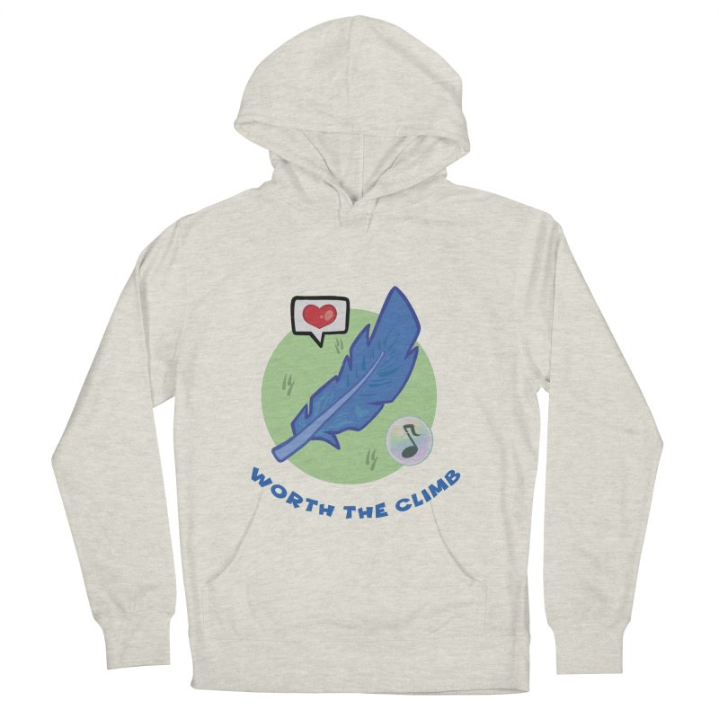 Worth the Climb Men's French Terry Pullover Hoody by Pixlsugr!