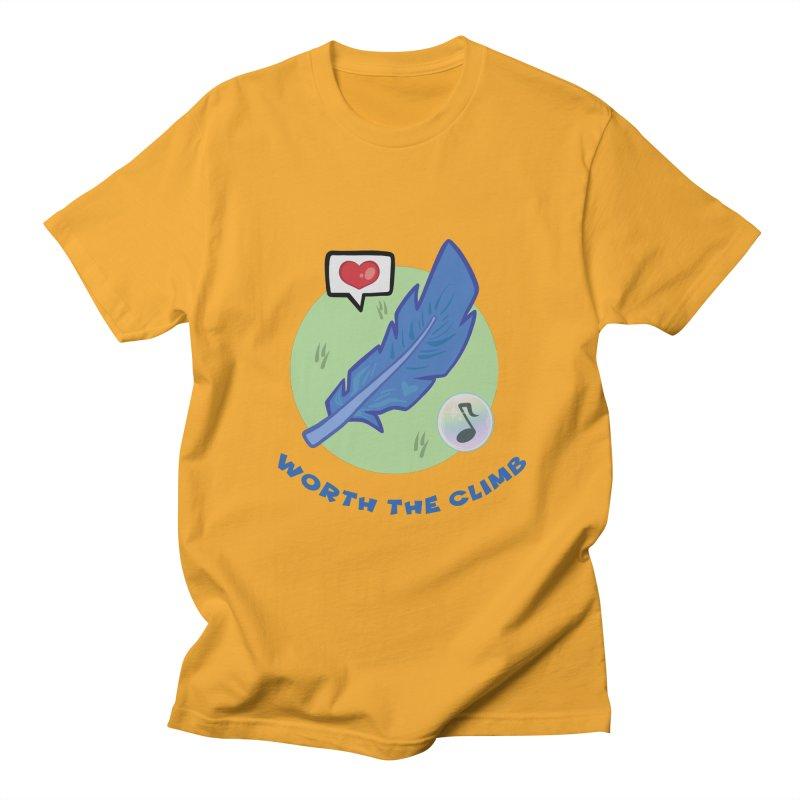 Worth the Climb Men's Regular T-Shirt by Pixlsugr!