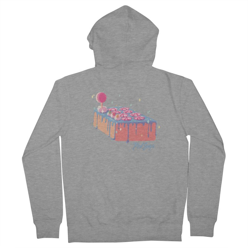 Frosted Fightstick Men's French Terry Zip-Up Hoody by Pixlsugr!