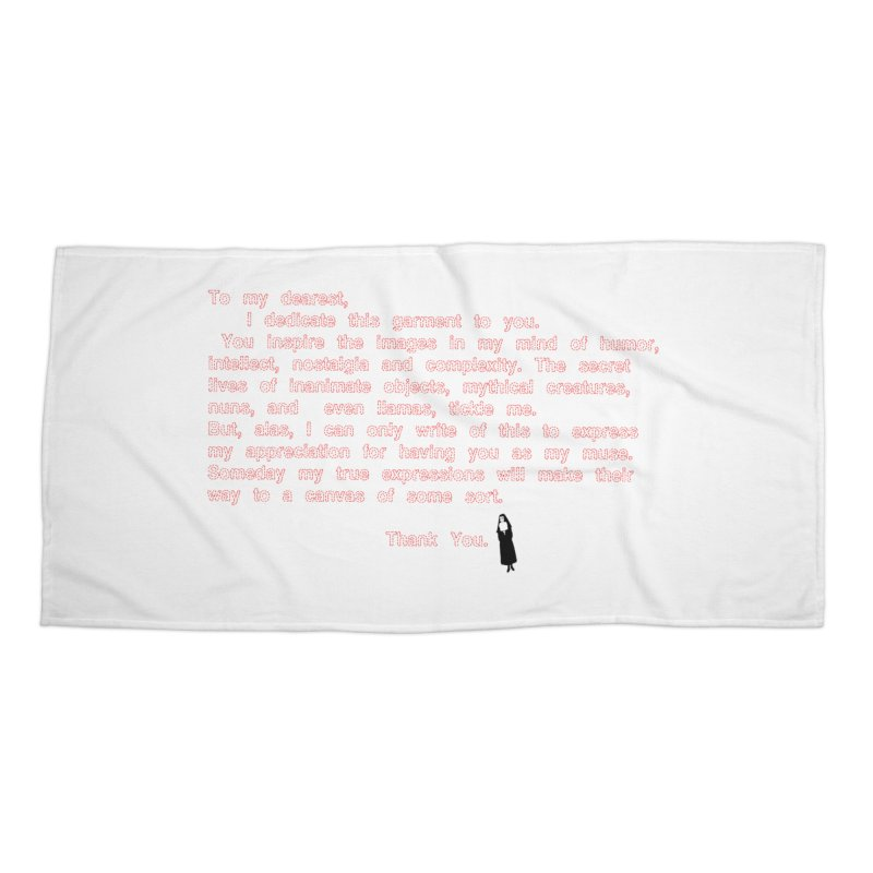 Dearest Accessories Beach Towel by pizzidave's Artist Shop