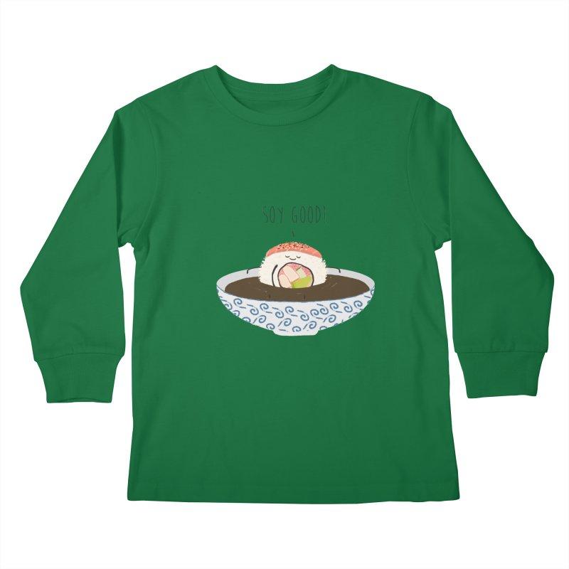 Soy Good! Kids Longsleeve T-Shirt by planet64's Artist Shop