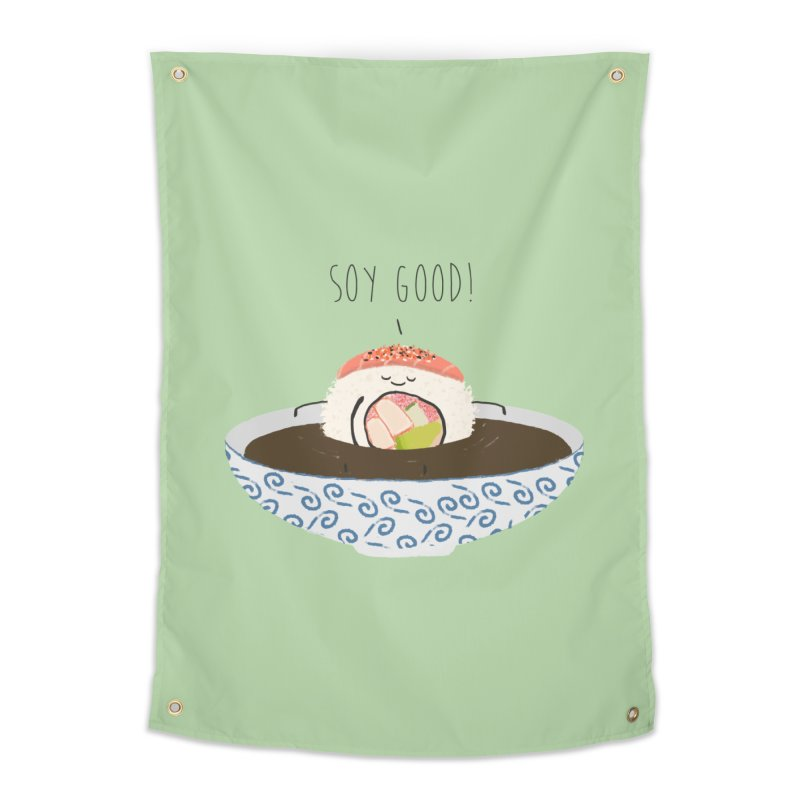 Soy Good! Home Tapestry by planet64's Artist Shop