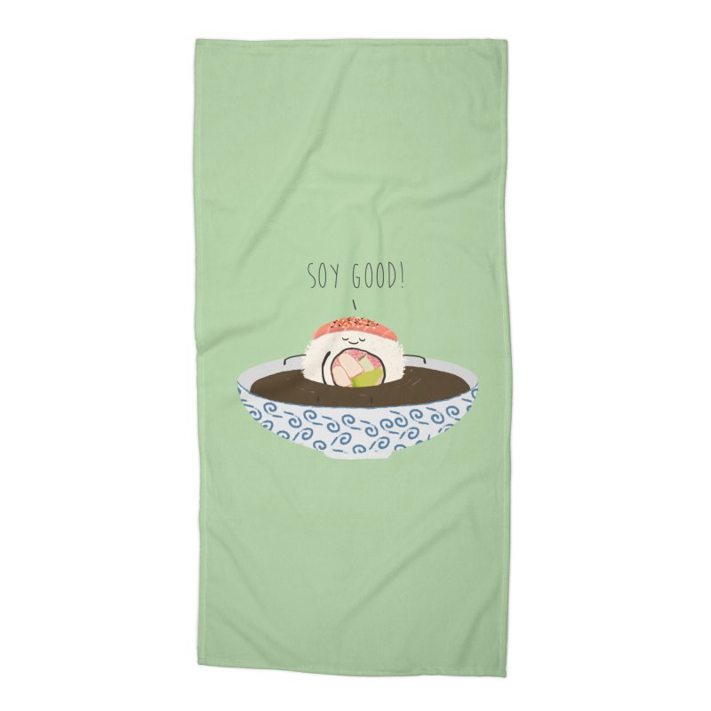 Soy Good! Accessories Beach Towel by planet64's Artist Shop