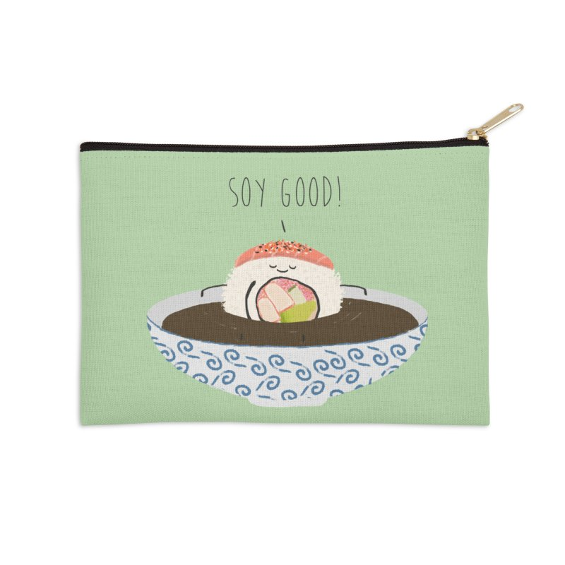 Soy Good! Accessories Zip Pouch by planet64's Artist Shop