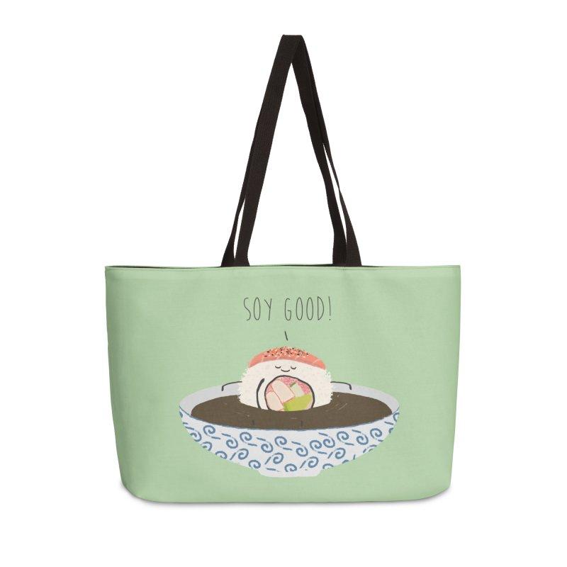 Soy Good! Accessories Weekender Bag Bag by planet64's Artist Shop