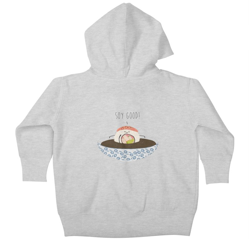 Soy Good! Kids Baby Zip-Up Hoody by planet64's Artist Shop